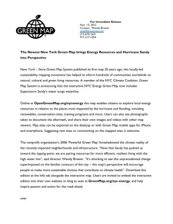 press release - Green Map System