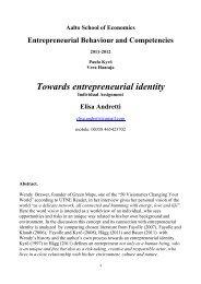 Towards entrepreneurial identity - Green Map System