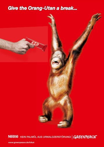 Give the Orang-Utan a Break - Greenpeace-Gruppe Stuttgart