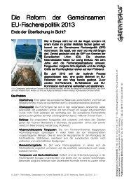 Factsheet zur Reform der EU-Fischereipolitik - Greenpeace-Gruppe ...