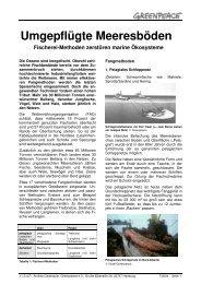 Umgepflügte Meeresböden - Greenpeace-Gruppe Stuttgart