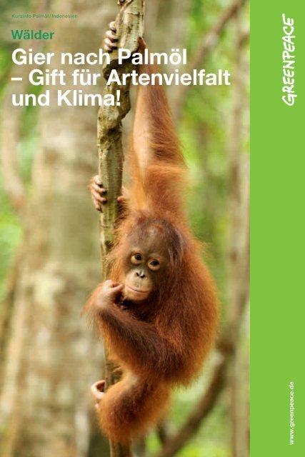 Gier nach Palmöl - Greenpeace-Gruppe Stuttgart