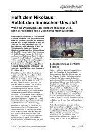 Finnland-Flugblatt_ 12-03 - Greenpeace-Gruppe Stuttgart