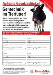 Unterschriftenliste - Greenpeace-Gruppe Stuttgart