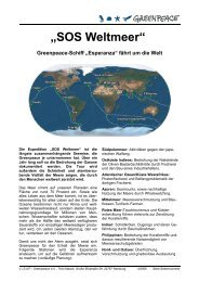 """SOS Weltmeer"" - Greenpeace-Gruppe Stuttgart"