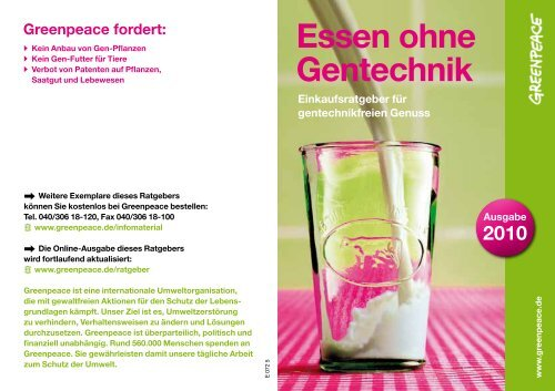 Essen ohne Gentechnik - Marktcheck.at