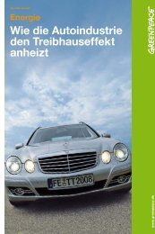 Wie die Autoindustrie den Treibhauseffekt anheizt - Greenpeace ...