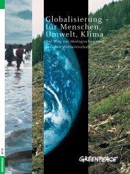 Globalisierung – für Menschen, Umwelt, Klima