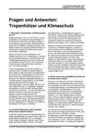 Tropenhölzer und Klimaschutz - Greenpeace-Gruppe Stuttgart
