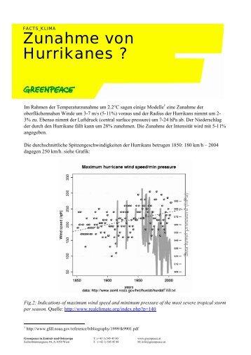 Zunahme von Hurrikanes ?