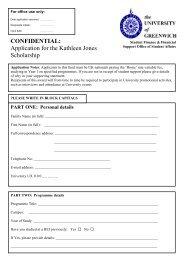 Application for the Kathleen Jones Scholarship - University of ...