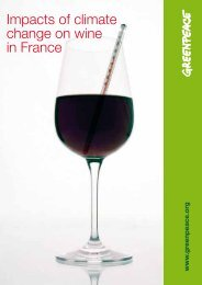 Impacts of climate change on wine in France - Greenpeace
