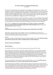 EU-Wahl: Positionen zu Ausbauzielen für Ökoenergie 8. Juni 2004 ...
