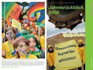 Jahresrückblick 2008 - Greenpeace