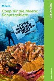 Coup für die Meere: Schutzgebiete - Greenpeace