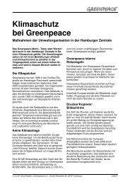 Klimaschutz bei Greenpeace