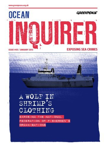 A WOLF IN SHRIMP'S CLOTHING - Greenpeace