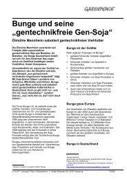 gentechnikfreie Gen-Soja - Greenpeace
