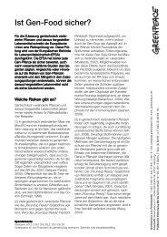FS Ist Gen Food sicher 10_2009 - Greenpeace