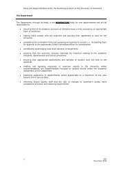 Roles and Responsibilities in the Examining System - University of ...