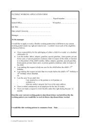 FLEXIBLE WORKING APPLICATION FORM