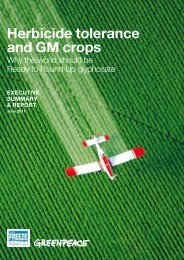 Herbicide tolerance and GM crops - Greenpeace