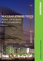 Nuclear Stress Tests - Flaws, blind spots and ... - Greenpeace