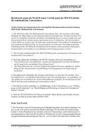 Beschwerde gegen die WestLB wegen Verstoßes ... - Greenpeace