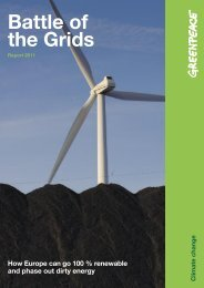 Battle of the Grids, Greenpeace 2011