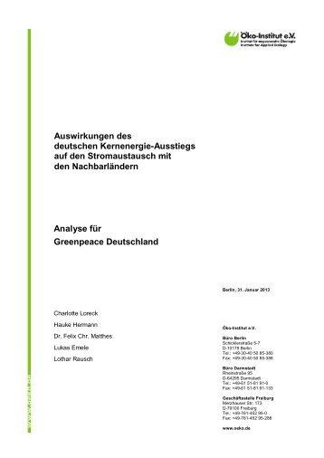 Studie Atomstromimporte_dt_Jan13 - Greenpeace