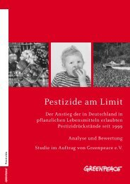 Studie: Pestizide am Limit - Greenpeace