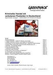 Krimineller Handel mit verbotenen Pestiziden in ... - Greenpeace