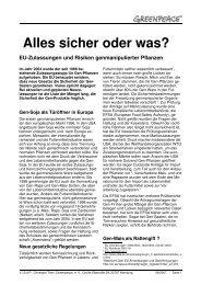 Mängel bei Eu-Zulassungen von genmanipulierten ... - Greenpeace