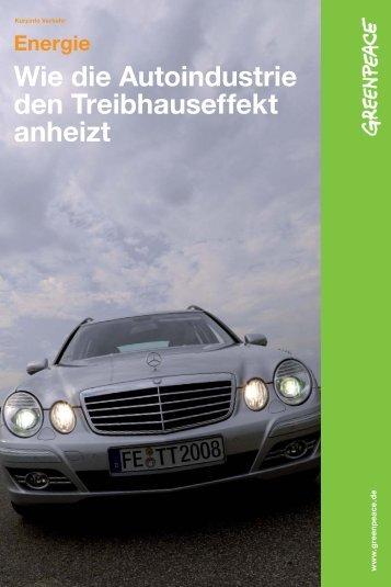Wie die Autoindustrie den Treibhauseffekt anheizt - Greenpeace