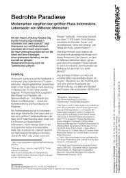 Zusammenfassung Indonesienreport - Greenpeace