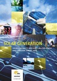 SOLAR GENERATION - Greenpeace
