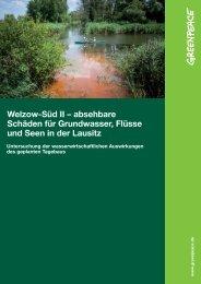 Welzow-Süd II – absehbare Schäden für ... - Greenpeace