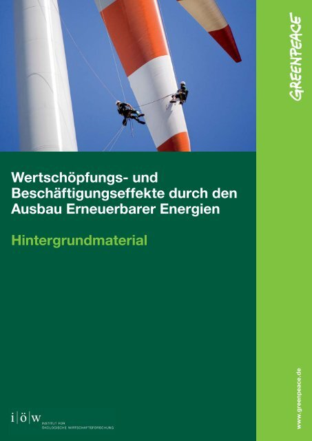 Hintergrundmaterial-zur-Studie-Wertschöpfung - Greenpeace