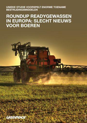 roundup readygewassen in europa: slecht nieuws voor boeren