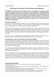 BioMess EU briefing - Greenpeace