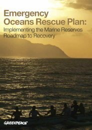 Emergency Oceans Rescue Plan: - Greenpeace