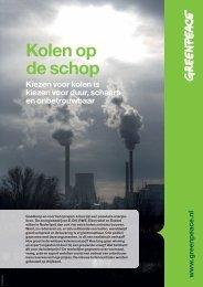 Kolen op de schop - Greenpeace Nederland
