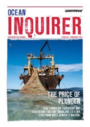 ThE pRICE Of plUNdER - Greenpeace Nederland