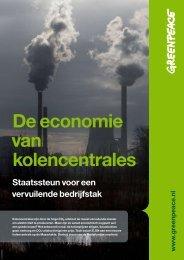 De economie van kolencentrales - Greenpeace Nederland