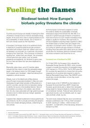 Biodiesel tested, how Europe's biofuels policy ... - Greenpeace