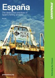 The destructive practices of Spain's fishing armada - Greenpeace