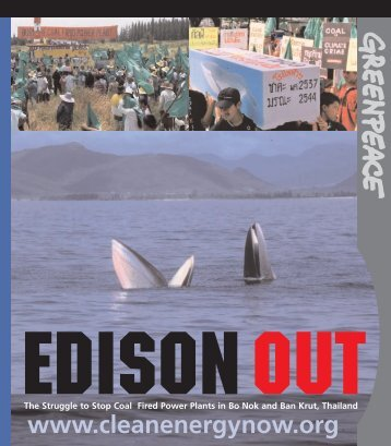 Edison Out of Bo Nok, Thailand - Greenpeace