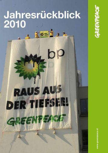 Jahresrückblick 2010 - Greenpeace