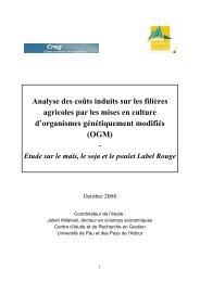Analyse des coûts induits sur les filières agricoles par ... - Greenpeace
