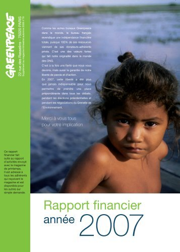 E 10580 - 3 volets rapport 2007-DEF.indd - Greenpeace